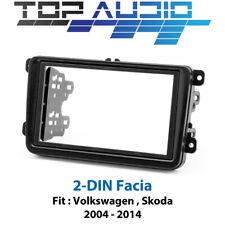 Volkswagen Skoda radio Double 2 Din fascia dash panel facia trim plate
