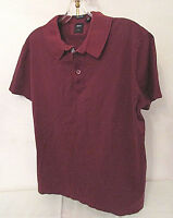 HUGO BOSS Mens Polo Shirt Regular Fit Tailored Dark Red Mercerized Cotton sz M