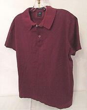 HUGO BOSS Men's Polo Shirt Regular Fit Tailored Dark Red Mercerised Cotton sz M