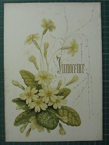 1848 PRINT ~ PRIMROSE - INNOCENCE - FLOWERS AND THEIR KINDRED THOUGHTS