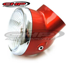 Honda CT70 KO, Headlight  AND Bucket, Candy RUBY RED NEW, Non-OE CHP Motorsports