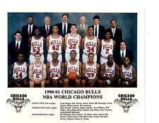 1990 1991 NBA CHAMPS CHICAGO BULLS  8X10 TEAM PHOTO JORDAN  BASKETBALL NBA