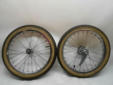 "80's GT Performer 16"" Bike Bicycle TIRES & WHEELS Stamped 16 Inch"