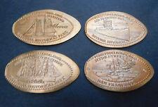 San Francisco,Ca. - Maritime National Historical Park - Four Copper Pennies
