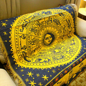 Constellation Nap Blanket Tapestry Carpet Country Mat Home 130*180cm/51*70inch