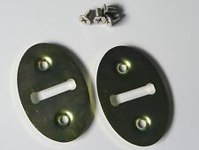 CLASSIC AUSTIN ROVER MINI DOOR JAM STRIKER PLATES ONE PAIR AS PER OE FITTED