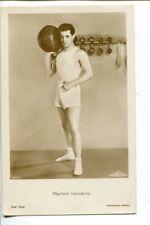 GAY Movie Star RAMON NOVARRO in GYM KIT 1920s  Ross Verlag POSTCARD