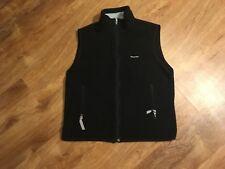 Men's Vintage Patagonia Synchilla Full Zip Vest Size L Large Black Polyester