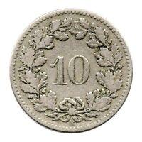 KM# 27 - 10 Rappen - Switzerland 1898 (Fair)