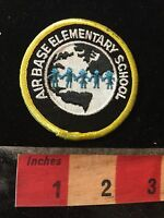 Vtg Homestead Florida School Patch AIR BASE ELEMENTARY SCHOOL C77K
