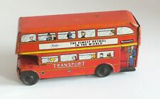 WELLS / BRIMTOY  - TINPLATE - ROUTEMASTER BUS - (NO FRICTION MOTOR)  (UNBOXED)