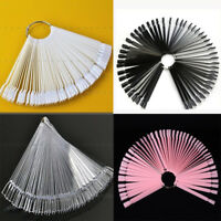 Nail False Display Nail Art Fan Wheel Polish Practice Colors Tip Sticks 50Pcs