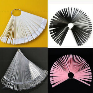 Nail False Display Nail Art Fan Wheel Polish Colors Practice Tip Sticks 50Pcs
