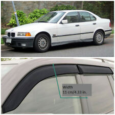 BE21490 Window Visors Guard Vent Wide Deflectors For BMW 3 E36 Sd 5d 1990-1998