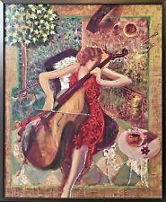 "Sabzi ""Sonata"" Figurative LTD #23/195 Giclee on Canvas 50"" x 40"" signed, Framed"