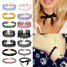 Gothic Punk Black Lace Retro Choker Collar Necklace Lace Flower Pendant Jewelry