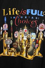 Important Choices Shirt Life Is Full Beer Black Tshirt XL XLarge Short Sleeve