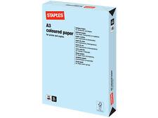 500 FOGLI / 1 RISMA A3 Blu Pastello Colorato carta 80 gsm + GRATIS CONSEGNA 24H