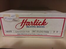 Harlick Competitor Plus White Ice Skate Boots New In Box Size 3 B.