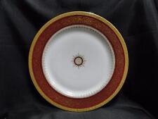 """Tressemanes & Vogt, Red Band, Gold Filigree, Medallion: Dinner Plate (s) 10 3/8"""""""