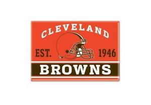 Cleveland Browns Foto Magnete Con Logo, NFL Calcio, Squadra Gründungsjahr
