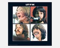 """THE BEATLES POSTER - LET IT BE ALBUM COVER ART - 1970 - 40 x 40 cm 16"""" x 16"""""""