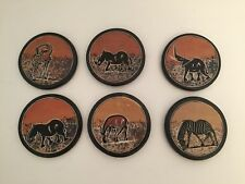 Authentic African coasters (stoneware)