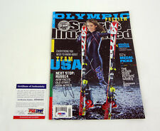 Mikaela Shiffrin 2018 Olympics Signed Sports Illustrated Magazine PSA/DNA COA