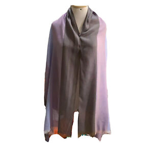 UNBRANDED STRIPED PURPLE LONG VISCOSE Scarf 76/24 in #A14