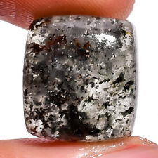 Natural rutile moss agate gemstone radiant cabochon 16X14X6 mm 13.55 ct.E-7118