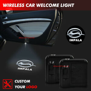 Wireless IMPALA Logo Car Door Welcome Projector Ghost Shadow Light For Chevrolet