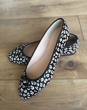 JCrew COLLECTION $268 Kiki Leopard Calf Hair Ballet Flats 8.5 Grey Brown F5512