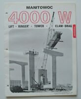 MANITOWOC 4000W Lift Crane 1972 dealer brochure catalog - English - USA