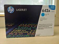 Genuine HP 642A Print Cartridge CB401A Cyan For CP4005 Black Box New