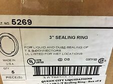 "Lot of 5 Thomas & Betts 5269 3"" Sealing Rings  New In Box."