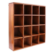 Wooden Home Organizer 16 Grids Wall Shelf for Cellection Gadget Display Case