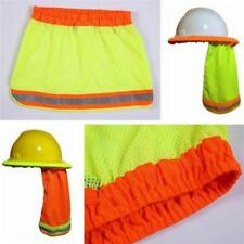 SAFETY HARD HAT NECK SHIELD HELMET SUN SHADE HI VIS REFLECTIVE STRIPE G
