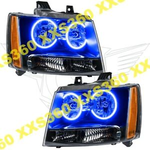 ORACLE Halo HEADLIGHTS for Chevrolet Avalanche 07-13 BLUE LED Angel Eyes
