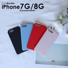 Funda de Silicona Liquida para iPhone 7 8 Calidad Suave Forro Microfibra