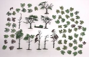 Vintage Britains Floral Garden Selection of Trees Branches Leaves Spares