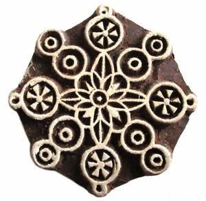 HOLZSTEMPEL D=6 cm Textilstempel Indien Henna Seifenstempel Tonstempel Mandala