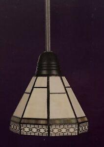 Hampton Bay Tiffany Mini Pendant Light Stained Glass Sonoma 749-724