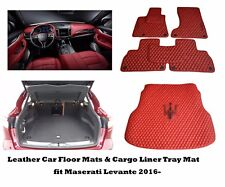Leather Car Floor Mats & Cargo Mat Fully Tailored fit Maserati Levante 2016-