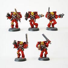 Warhammer 40k Ángeles de sangre del ejército espacio Marina ASALTO Squad pintado y basado