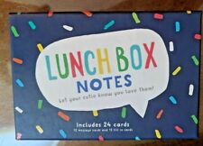 New Lunch Box Notes by Eccolo for Kids, Husbands, Family Members Spouse 24 cards