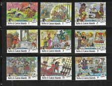 HICK GIRL- MINT TURKS & CAICOS ISLANDS STAMPS    DISNEY   PIRATES      T2334