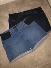 Next Maternity Denim Shorts Size 16