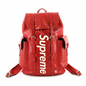 LOUIS VUITTON Supreme Epi Christopher PM Backpack Leather Red M53414 90130948