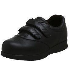 Drew Mujer Negro Pantorrilla Ortopédicas Zapatos Para Andar Paradise II