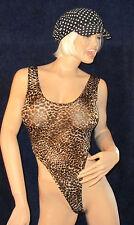 Sexy Stringbody, Leopard Motif, Haute beinausschnitt, String Body, Taille S-M